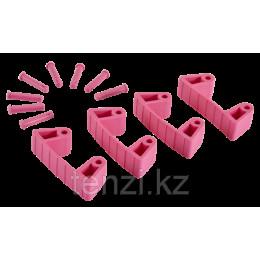 Резиновый зажим 4 шт. к настенным креплениям арт. 1017 и 1018, 120 мм, розовый цвет