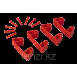 Резиновый зажим 4 шт. к настенным креплениям арт. 1017 и 1018, 120 мм, красный цвет