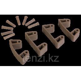 Резиновый зажим 4 шт. к настенным креплениям арт. 1017 и 1018, 120 мм, коричневый цвет