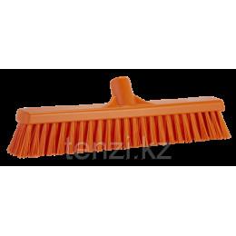 Щетка  для подметания с комбинированным ворсом, 410 мм, Мягкий/жесткий, оранжевый цвет