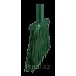 Щетка для подметания с ворсом под углом, 290 мм, Очень жесткий, зеленый цвет