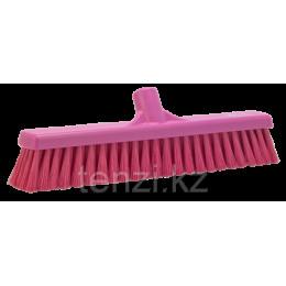 Щетка для подметания пола мягкая, 410 мм, Мягкий ворс, розовый цвет
