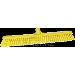 Щетка  для подметания с комбинированным ворсом, 610 мм, Мягкий/жесткий ворс, желтый цвет