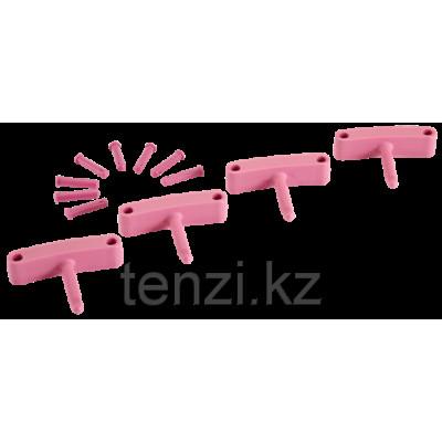 Крючок 4 шт. к настенным креплениям арт. 1017 и 1018, 140 мм, розовый цвет