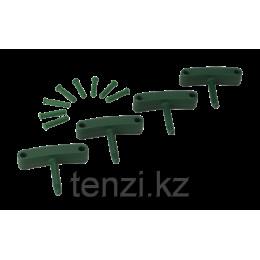 Крючок 4 шт. к настенным креплениям арт. 1017 и 1018, 140 мм, зеленый цвет