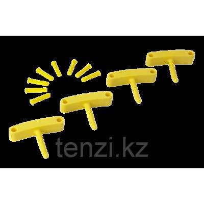 Крючок 4 шт. к настенным креплениям арт. 1017 и 1018, 140 мм, желтый цвет