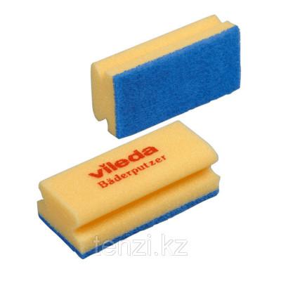 Губка Виледа для ванной (синий абразив) Vileda Professional