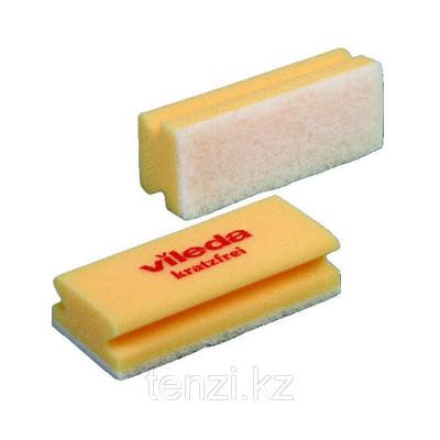 Мягкая губка Виледа (белый абразив) Vileda Professional