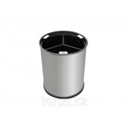 Probbax Корзина для отходов 13л  цвет стали