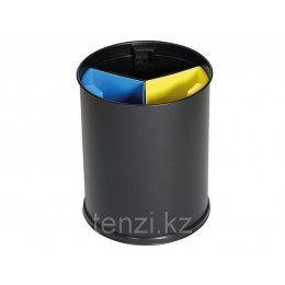 Probbax Корзина для отходов с подразделениями 13л черный цвет