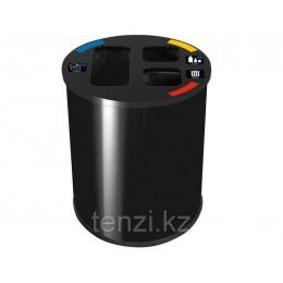 Probbax Корзина для разделения отходов 60л черный цвет