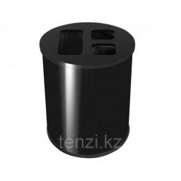 Probbax Корзина для разделения отходов 40л черный цвет