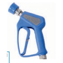 Пистолет для ЦСМ с быстросъёмом «мама» из нержавеющей стали в резиновой защите с поворотным соединением