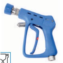 Пистолет для ЦСМ с задержкой выключения из нержавеющей стали в резиновой защите с поворотным соединением