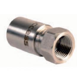 Прессованный наконечник из нержавеющей стали, коническое уплотнение ½ для шлангов низкого давления