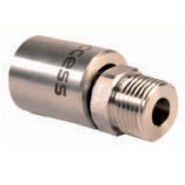 Прессованный наконечник из нержавеющей стали, наружная резьба ½ для шлангов низкого давления