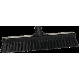 Щетка для подметания с комбинированным ворсом, 410 мм, Мягкий/жесткий, черный цвет