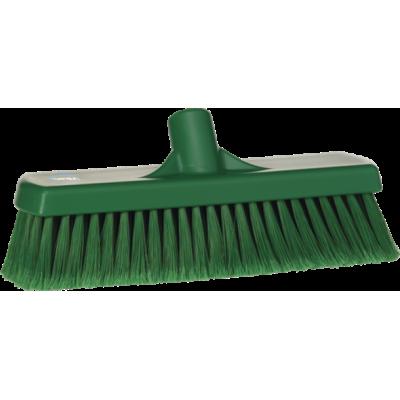 Щетка для подметания, 300 мм, Мягкий/ расщепленный ворс, зеленый цвет