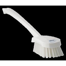 Щетка для мытья с длинной ручкой, 415 мм, Жесткий ворс, белый цвет