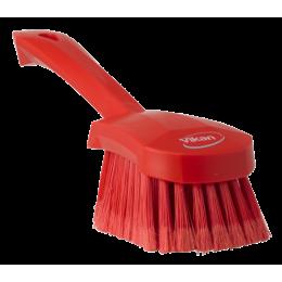 Щетка для мытья с короткой ручкой, 270 мм, Мягкий/расщепленный ворс, красный цвет