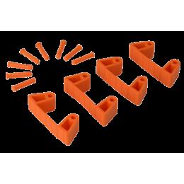 Резиновый зажим 4 шт. к настенным креплениям арт. 1017 и 1018, 120 мм, оранжевый цвет
