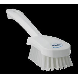 Щетка для мытья с короткой ручкой, 270 мм, Жесткий ворс, белый цвет