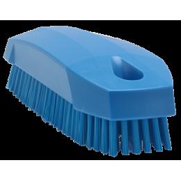 Щетка S для рук / для ногтей, 130 мм, Жесткий ворс, синий цвет