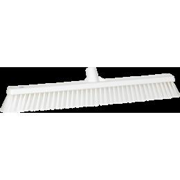 Щетка для подметания с комбинированным ворсом, 610 мм, Мягкий/жесткий ворс, белый цвет