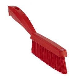 Щетка ручная узкая с короткой ручкой, 300 мм, Очень жесткий ворс, красный цвет