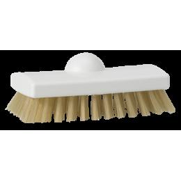 Скребковая щетка с термостойким ворсом, 150 мм, Жесткий ворс, белый цвет