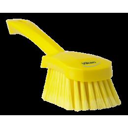 Щетка для мытья с короткой ручкой, 270 мм, Мягкий/расщепленный ворс, желтый цвет
