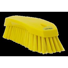 Щетка ручная L, 200 мм, Жесткий ворс, желтый цвет