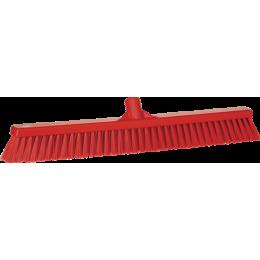 Щетка для подметания с комбинированным ворсом, 610 мм, Мягкий/жесткий ворс, красный цвет