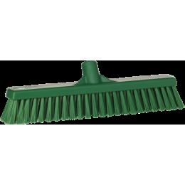 Щетка для подметания с комбинированным ворсом, 410 мм, Мягкий/жесткий, зеленый цвет