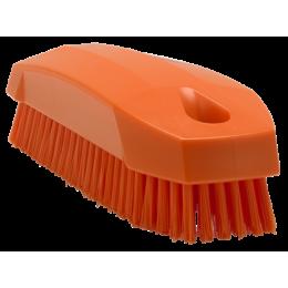 Щетка S для рук / для ногтей, 130 мм, Жесткий ворс, оранжевый цвет