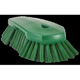 Щетка ручная скребковая, 240 мм, Очень жесткий ворс, зеленый цвет