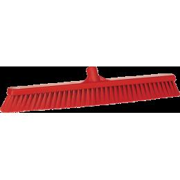 Щетка для подметания пола мягкая, 610 мм, Мягкий ворс, красный цвет
