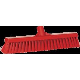 Щетка для подметания пола мягкая, 410 мм, Мягкий ворс, красный цвет
