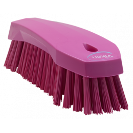 Щетка ручная L, 200 мм, Жесткий ворс, розовый цвет