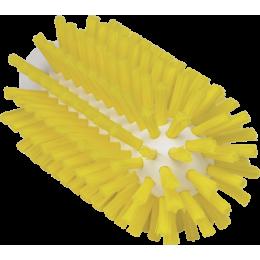 Щетка-ерш для очистки труб, гибкая ручка, диаметр 63 мм, Жесткий ворс, желтый цвет