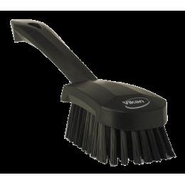 Щетка для мытья с короткой ручкой, 270 мм, Жесткий ворс, черный цвет