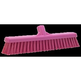 Щетка для подметания с комбинированным ворсом, 410 мм, Мягкий/жесткий, розовый цвет