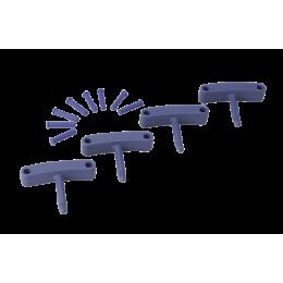 Крючок 4 шт. к настенным креплениям арт. 1017 и 1018, 140 мм, фиолетовый цвет