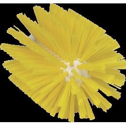 Щетка-ерш для очистки труб, гибкая ручка, диаметр 103 мм, средний ворс, желтый цвет