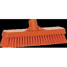 Щетка для мытья полов и стен, 305 мм, Жесткий ворс, оранжевый цвет