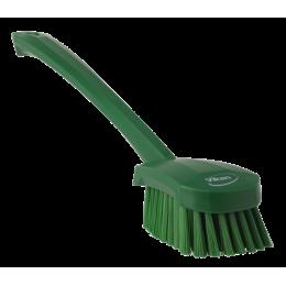Щетка для мытья с длинной ручкой, 415 мм, средний ворс, зеленый цвет