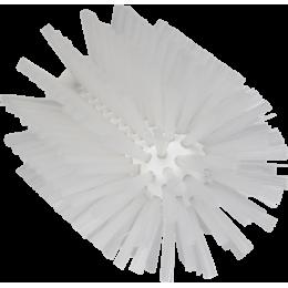 Щетка-ерш для очистки труб, гибкая ручка, Ø90 мм, средний ворс, белый цвет