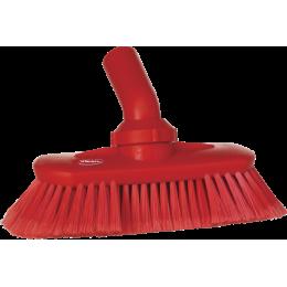 Щетка с подвижным креплением и подачей воды, 240 мм, Мягкий/ расщепленный ворс, красный цвет