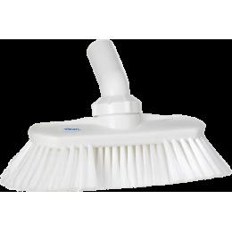 Щетка с подвижным креплением и подачей воды, 240 мм, Мягкий/ расщепленный ворс, белый цвет