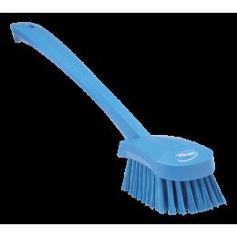 Щетка для мытья с длинной ручкой, 415 мм, Жесткий ворс, синий цвет